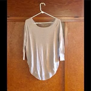 Express Lace Up Circle Sweater - Sz XS
